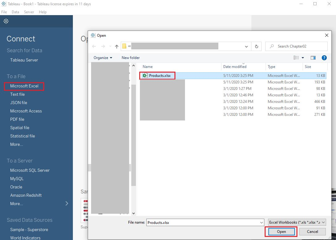Tableau Connect to data source Step 3